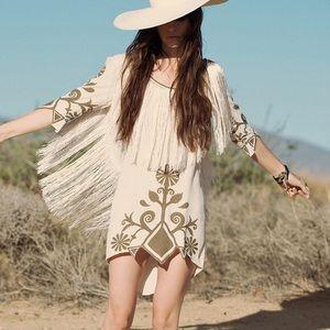 Spell wild horses fringe mini dress